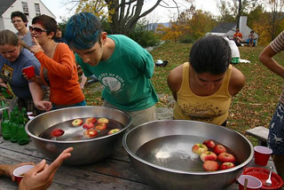 Bobbing for apples on Apple Day