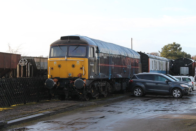 One of the ex EWS Royal class 47s Number 47799 on the Eden Valley Railway