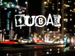 (SGCampos) Tags: street architecture night contrast lights dubai fuji darkness bokeh united uae east emirates fujifilm middle arabs x10 skycreeper sgcampos sgcam