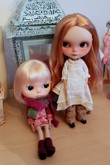 My two customized fbl's together, Nettle and Putney.