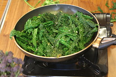 Fatima's kale with garlic and sumac