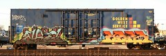 Rebuke/Kres (quiet-silence) Tags: railroad art train graffiti flat fb ant railcar sp boxcar graff freight lords goldenwest southernpacific tfl buke fr8 rebuke kres allnation kreser sp698395
