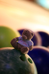 bowling bear (KaterRina) Tags: bear game canon toy 50mm14 bowling oneobject365daysproject pukatukas