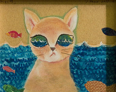 from sea fish detail art up collage japan cat paper still earthquake eyes waves message pacific contemporary postcard great here we size tsunami postcards kamo region a5 tohoku sachiko patterned welling a 幸子 wearestillhere 加茂 postcardsfromjapan artistsamessagefromtohokuartists 加茂幸子