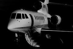 Falcon Highlights (dkuttel) Tags: oregon portland french flying aviation falcon pdx wealth fbo dassault privatejet frenchaviation falcon50 kpdx fa50 corporatejet