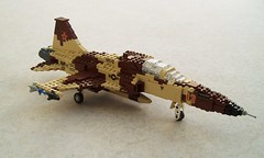 F-5E Tiger updated (1) (Mad physicist) Tags: lego military tiger jet usnavy northrop f5e