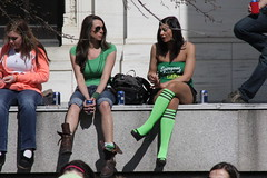 WEARING O' THE GREEN(KNEE SOCKS) (MIKECNY) Tags: holiday girl fun outfit legs albany celebrate stpatricksday kneesocks