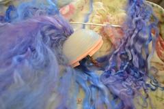 mohair blythe reroot (Jemjoop Blythe/BJD) Tags: blue doll purple loop lavender lilac mohair blythe reroot