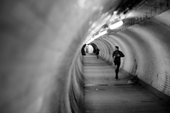 Jogging through Greenwich foot tunnel (Bootydan) Tags: london greenwich tunnel greenwichfoottunnel underthethames canon600d
