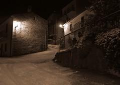 Bortigiadas, carreri di subbra (Andrea Deiana) Tags: sardegna sony neve notte lampioni ghiaccio gallura a390 bortigiadas sonya390