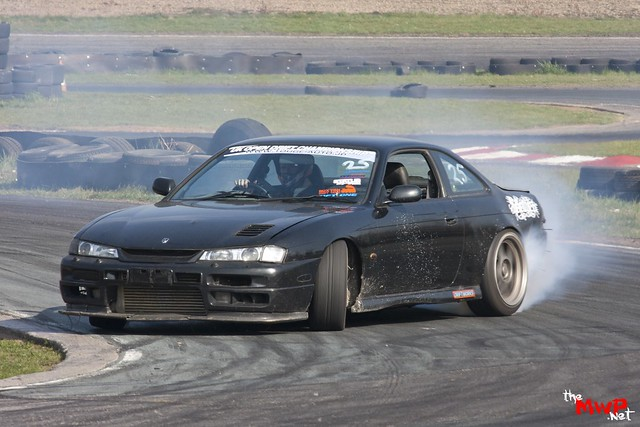 Mike Robinson in his Nissan S14a 200sx