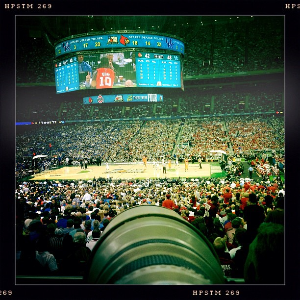 My shooting spot at the UK VS LOUISVILLE game