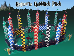 Hogwarts Quidditch Pitch (Oky - Space Ranger) Tags: team community lego stadium harry potter pitch build quidditch hogwarts slytherin gryffindor