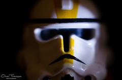 Clone portrait (Photos by Owen Franssen) Tags: light portrait trooper black macro toy star key lego background low wars clone strobist