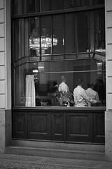 The Cafe Incident (Franco Hüller) Tags: men cafe prague praha shirts incident waiters