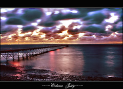 Ceduna Jetty Sunset (a777thunder (Thanks for your support)) Tags: sunset australia southaustralia ceduna refflection