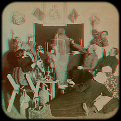 Mickie's Ghost 1894.  anaglyph 3D (depthandtime) Tags: old irish vintage dead found death stereoscopic stereophotography 3d wake bottles spirit antique doubleexposure ghost pipe 19thcentury 1800s drinking anaglyph photographic smoking stereo card views surprise stereoview trick stereograph foundphoto apparition mickie stereoscope trickery nineteenthcentury 1890s anaglyphic 1894 stereographic underwoodunderwood stereoscopeview strohmeyerwyman mickiesghost mickieohoolihan