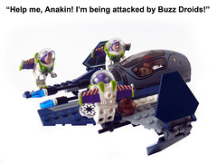 Buzz Droids (Oky - Space Ranger) Tags: buzz toy star funny lego story jedi lightyear obi wars wan clone droid interceptor kenobi starfighter