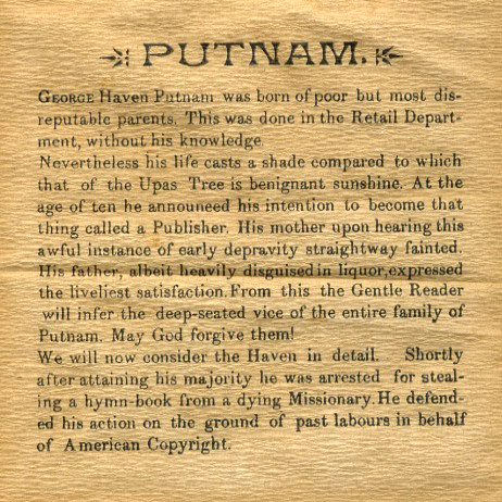 Biography of George Haven Putnam