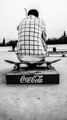 Taking a break (JessikaC Photography) Tags: blackandwhite monochrome sitting skateboarding cement coke skateboard cocacola brand nex