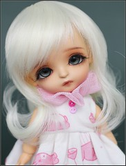 Apple (*Sweet Days*) Tags: yellow doll tan tiny poppy bjd custom dollfie limited petite tanned haru ewa ruffle latidoll lati urethane lrrh edeyes creayations