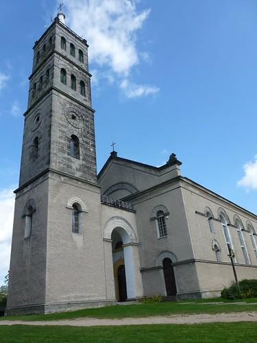 Wieża kościóła Przemienienia Pańskiego w Olesznie Podgórskiej