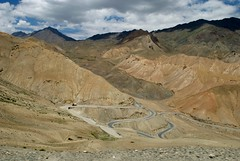 The drive into the Zanskar river Adventure rafting and Kayaking trip