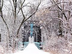 Winter Kent Trails bridge