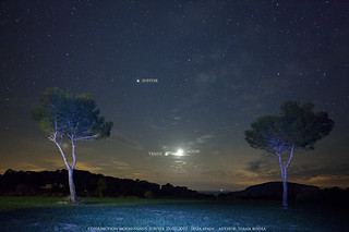 Conjunction Moon-Venus-Jupiter