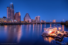 Downtown Austin Paddle Boat (Evan Gearing (Evan's Expo)) Tags: water skyline night austin reflections boat nikon texas dusk tx paddle sigma townlake paddleboat 1020 hdr highdynamicrange ladybirdlake d300s evangearingphotography evansexpo