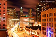 Downtown Belltown (TIA International Photography) Tags: road seattle city winter light urban loft night buildings tia landscape real evening march washington office store downtown estate apartment skyscrapers pacific northwest garage centre parking trails lot center condo sound belltown third streams avenue department 3rd condominium puget tosin skywalk macy's arasi wsdot tiascapes ©tiainternationalphotography