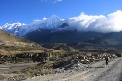 Great scenery on a Multi sport treking Mountain biking rafting kayaking trip in Nepal
