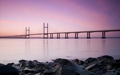 S e v e r n   S u n r i s e (ƇĦŘĺς ΛΨŁЩΛŘĐ ƤĦŎŦŎƓƦΛƤĦϔ) Tags: bridge winter england beauty sunshine wales architecture sunrise river bristol early colours crossing motorway south estuary severn gateway waters welsh m4 vast spanning sudbrook redwick hdcymru