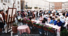 we are alfresco dining at piazza navona (Rex Montalban Photography) Tags: italy rome europe piazzanavona diffuseglow rexmontalbanphotography pse9 photoshopelements9