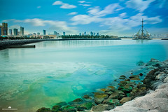 Kuwait - Marina Waves & Sky (Abdulaziz ALKaNDaRi | Photographer) Tags: fish color colour beach water rock speed marina canon lens outdoors photography eos rebel high fishing aperture exposure waves photographer gulf view shot quality east iso photograph arab arabia kuwait arabian hq middle scape length ef 1740 2012 salmiya q8 waterscape focal kwi   abdulaziz     kuw  550d  q8city   t2i arabgulf  kesslercrane  alkandari   abdulazizalkandari wearab
