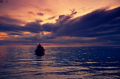Far away (Fabio Sabatini) Tags: ocean sunset red sea sky thailand island fire boat wings purple dusk indian floating kotao andaman suratthani bankotao trangprovince