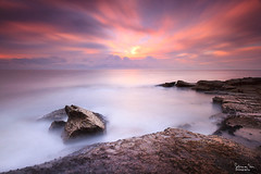Shifting sky (SoniaMphotography) Tags: ocean longexposure pink sea seascape water sunrise movement australia nsw southcoast illawarra rockshelf coalciff