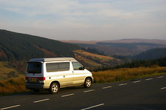Brecon van overlooking Cwm Taff (GoBongo.co.uk) Tags: camping mountain wales spring brecon beacons mid 2012