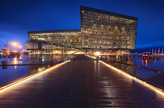 Iceland - Reykjavik Blue hour at Harpa Concert Hall ( Saleh AlRashaid / www.Salehphotography.net) Tags: blue canon hall iceland concert reykjavik lee hour saleh harpa alrashaid