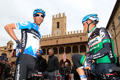 David Millar, Robbie Hunter - Tirreno-Adriatico, stage 6 (Team Garmin-Sharp) Tags: italy italia millar hunter 2012 offida tirrenoadriatico