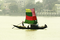 The Sail (Oswald King) Tags: canon river boat sail kolkata ganga 2012 ganges dakshineswar 55250mm 1000d