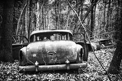 (soulshine59) Tags: blackandwhite abandoned decay massachusetts rusty canon5d oldcars vintagecars rustyoldcars abandonednewengland carsinwoods