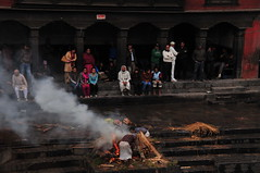 Cremations on Bagmati riverbank  (Mel s away) Tags: nepal river temple mel kathmandu melinda cremation pashupatinath   bagmati   chanmelmel melindachan
