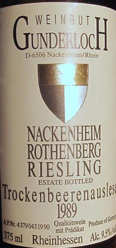 Nackenheim Rothenberg Riesling Trockenbeerenauslese