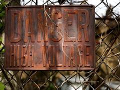 Danger High Voltage Sign (Mr.TinDC) Tags: signs sign danger warning fence washingtondc dc rust rusty creepy dcist chainlinkfence highvoltage dangerhighvoltage mcmillansandfiltrationsite