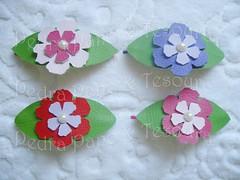 Grampo com flores (Pedra Pano & Tesoura) Tags: flor grampo courinho