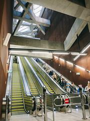 P1050119 (apollai) Tags: city light color colour architecture underground subway concrete four prime amazing cool focus hungary traffic metro escalator budapest panasonic micro m4 thirds m43 mft milc gf2 metro4
