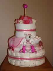 Nappy Cake 001 (markydeedrop) Tags: cakes cake nappy diaper nappycake