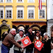 "Austria: Don M '75 and Barbara Adams, Greg Ricalde '13, Rachel Withington '12 and Katy Ricalde '06 gathered for a group Clemson spirit shot in front of Mozart's birthplace in Salzburg. The Adams spied the Tiger Rag the others were using for a picture and • <a style=""font-size:0.8em;"" href=""http://www.flickr.com/photos/49650603@N07/14112837492/"" target=""_blank"">View on Flickr</a>"