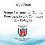 Frente Parlamentar Contra Renova��o dos Contratos dos Ped�gios